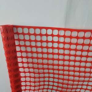 Temporary Orange Snow Safety Fence