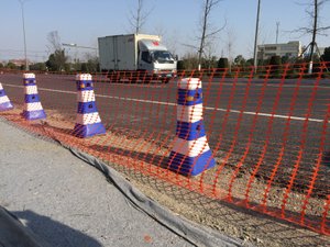 Versatile Orange Roadway Safety Fence