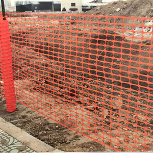 Visible Green Yard Construction Fence